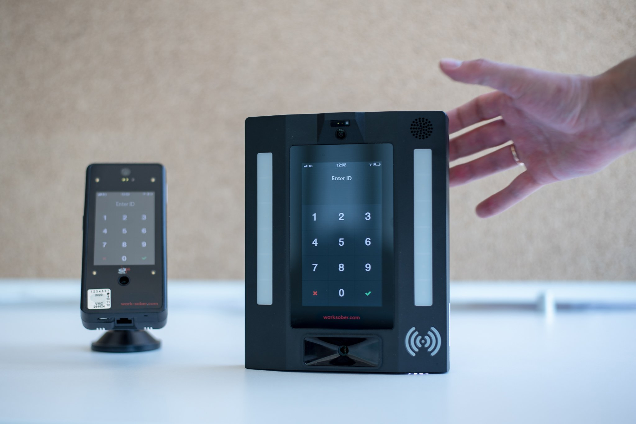 Worksober automated alcohol testing devices.